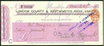 Picture of London County & Westminster Bank Ltd., ovptd on London & County Banking Co., 1910