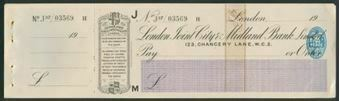 Picture of London Joint City & Midland Bank Ltd., 123, Chancery Lane, London, 19(20)