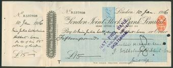 Picture of London Joint Stock Bank Ltd., 5 Princes Street, E.C., 191(6)