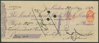 Picture of London Joint Stock Bank Ltd., 5 Princes Street, Mansion House, 18(84)