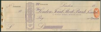 Picture of London Joint Stock Bank Ltd., 5 Princes Street, Mansion House, 18(98)
