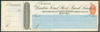 Picture of London Joint Stock Bank Ltd., Whitby, 191(6), York City & County Banking Co. Ltd.,