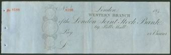 Picture of London Joint Stock Bank, Western Branch, London, 184-