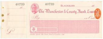 Picture of Manchester & County Bank  Ltd., Blackburn, 18(98)