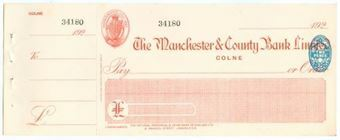 Picture of Manchester & County Bank  Ltd., Colne, 192(4)