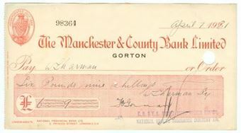 Picture of Manchester & County Bank  Ltd., Gorton, 192(31)