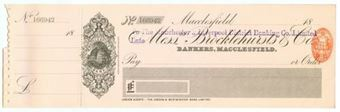 Picture of Manchester & Liverpool District Banking Co. Ltd. ovptd on Messrs Brocklehursts & Co., 18(90)