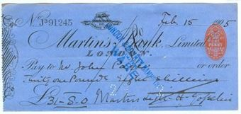 Picture of Martin's Bank Ltd., 68 Lombard Street, London, 190(5)