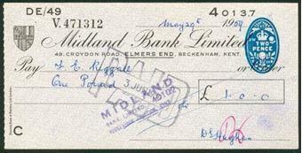 Picture of Midland Bank Ltd., 49 Croydon Road, Elmers End, Beckenham Kent, 19(59), type 9
