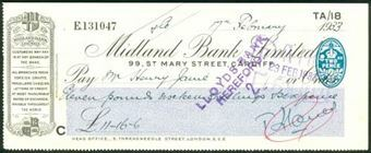 Picture of Midland Bank Ltd., 99, St. Mary Street, Cardiff, 19(33), type 3a