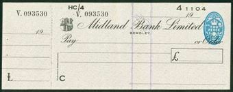 Picture of Midland Bank Ltd., Bewdley, 19(49), type 8