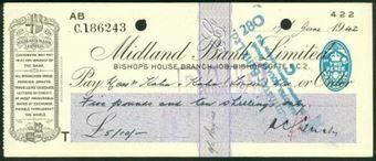 Picture of Midland Bank Ltd., Bishop's House Branch, 108, Bishopsgate, E.C.2, 19(42), type 3b