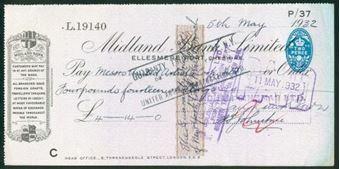 Picture of Midland Bank Ltd., Ellesmere Port, Cheshire, 19(32), type 11