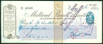 Picture of Midland Bank Ltd., Ellesmere Port, Cheshire, 19(32), type 3a