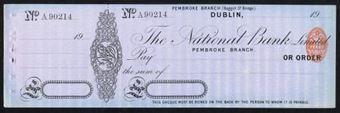Picture of The National Bank, Pembroke Branch (Baggot St.), Dublin, 19(08)