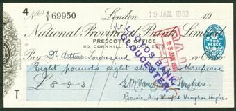 Picture of National Provincial Bank Ltd.,  50, Cornhill, London, E.C.3, 19(30), type 17b