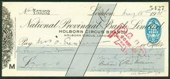 Picture of National Provincial Bank Ltd., Holborn Circus Branch, Holborn Circus, E.C.1, 19(33), type 17g