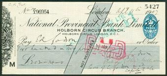 Picture of National Provincial Bank Ltd., Holborn Circus Branch, Holborn Circus, E.C.1, 19(35), type 17g
