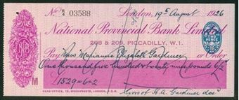 Picture of National Provincial Bank Ltd., London, 208 & 209, Piccadilly, W.1.,  19(26), type 14b