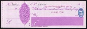 Picture of National Provincial Bank Ltd., ovptd on Nat. Prov. and Un. Bank of Eng. Ltd., Llanefni, 19(23)