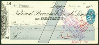 Picture of National Provincial Bank Ltd., Union Bank Branch, Holborn Circus, E.C.1, 19(28), type 17f