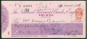 Picture of National Provincial Bank of England Ltd., Amlwch, Anglesey, 19(15), type 11d