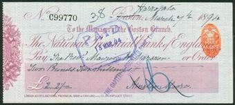 Picture of National Provincial Bank of England Ltd., Boston, 18(91), type 10a