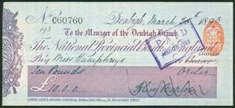 Picture of National Provincial Bank of England Ltd., Denbigh, 18(93), type 10a