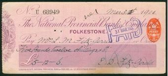Picture of National Provincial Bank of England Ltd., Folkestone, 1(900), type 11b