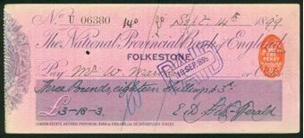 Picture of National Provincial Bank of England Ltd., Folkestone, 18(99), type 11a