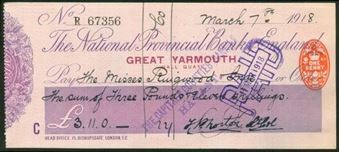 Picture of National Provincial Bank of England Ltd., Great Yarmouth, 19(18), type 11e