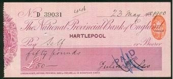 Picture of National Provincial Bank of England Ltd., Hartlepool, 18(900), type 11a