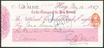 Picture of National Provincial Bank of England Ltd., Hay, 18(87), type 9b
