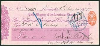 Picture of National Provincial Bank of England Ltd., Leominster, 18(83), type 9a
