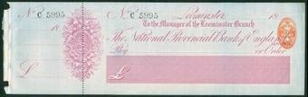 Picture of National Provincial Bank of England Ltd., Leominster, 18(88), type 9a