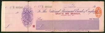 Picture of National Provincial Bank of England Ltd., London, Gray's Inn Branch, 19(13), type 12b