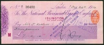Picture of National Provincial Bank of England Ltd., London, Islington,  19(14), type 12b