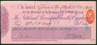 Picture of National Provincial Bank of England Ltd., Newport, Isle of Wight, 18(901), type 10b