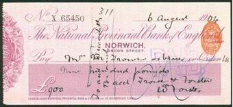 Picture of National Provincial Bank of England Ltd., Norwich, 19(04), type 11c