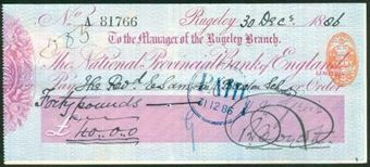 Picture of National Provincial Bank of England Ltd., Rugeley, 18(86), type 9b