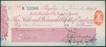 Picture of National Provincial Bank of England Ltd., Rugeley, 18(90), type 9a