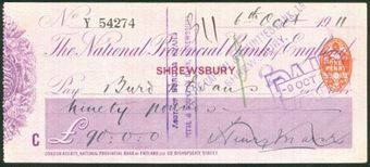 Picture of National Provincial Bank of England Ltd., Shrewsbury, 19(10), type 11c