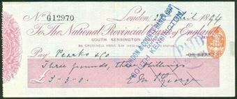 Picture of National Provincial Bank of England Ltd., South Kensington Branch, 18(94), type 9c