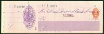Picture of National Provincial Bank of England Ltd., Stone (Staffs.), 19(09), type 11c