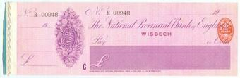 Picture of National Provincial Bank of England Ltd., Wisbech, 19(15), type 11d