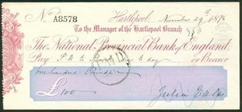 Picture of National Provincial Bank of England, Hartlepool, 18(78), type 8a