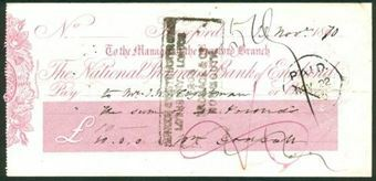 Picture of National Provincial Bank of England, Hereford, 186(70), type 5c