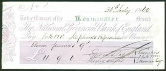 Picture of National Provincial Bank of England, Leominster, 18(57), type 4b