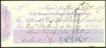 Picture of National Provincial Bank of England, Newport, Isle of Wight, 18(75), type 7