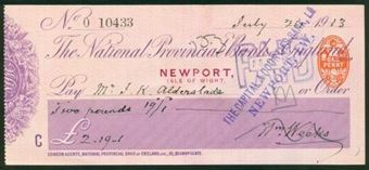 Picture of National Provincial Bank of England, Newport, Isle of Wight, 19(15), type 11d